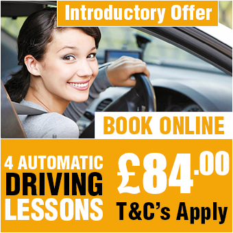 4 Automatic Driving Lessons £84