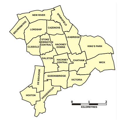 Map of Hackney