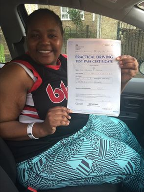 Customer passed driving test in Chingford