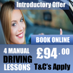 4 Beginner Introductory Manual Driving Lessons Offer £97.00 pounds
